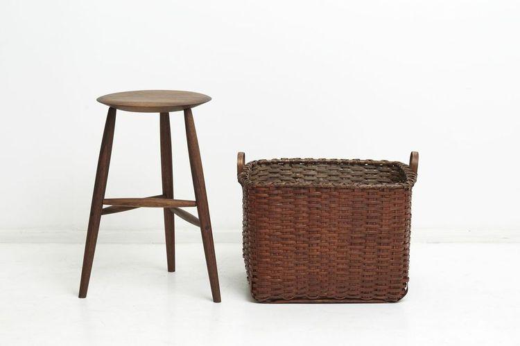 Stool and basket