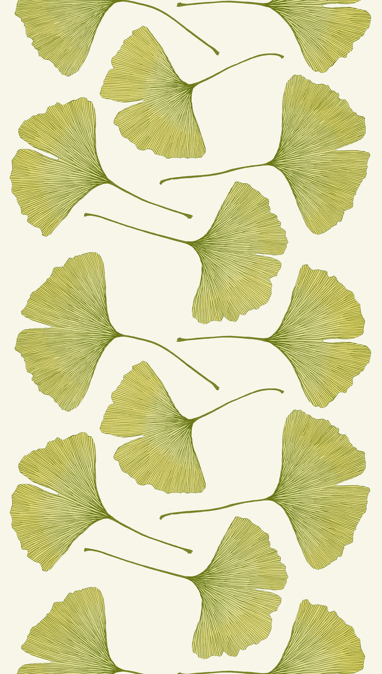 Gingko textile pattern by Kristina Isola for Marimekko