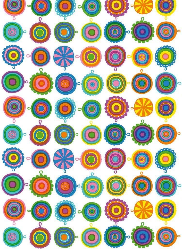 Lappuliisa textile pattern by Maija Louekari for Marimekko