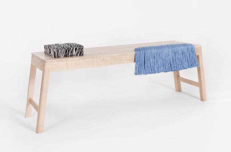 Brook&Lyn maple and cotton yarn Rya bench, which debuted at Dwell on Design 2013