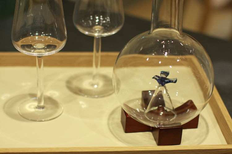 Decanter and Everyday Wine glasses by Michael Graves