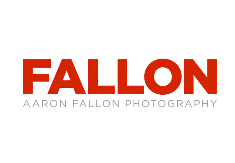 Front page graphic of aaronfallon.com with just the memorable name FALLON. Aaron Fallon.