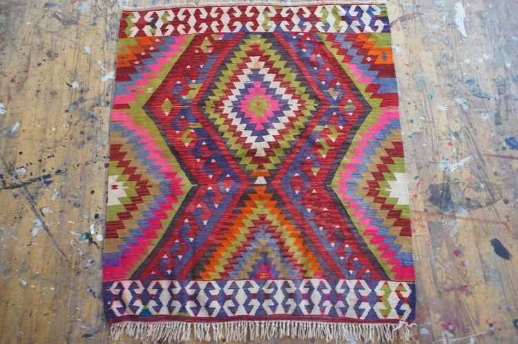 Vintage flatweave Turkish rug from Aelfie
