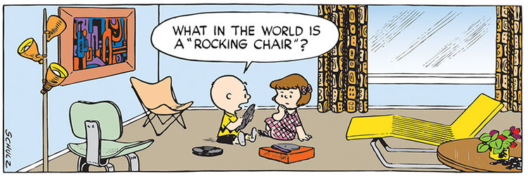 Iconic Furniture in Peanuts Comic Strip