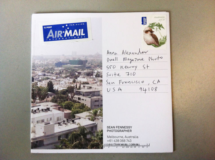 Front fold of the photography promo mailer from Sean Fennessy from Melbourne, Australia in Promo Daily.