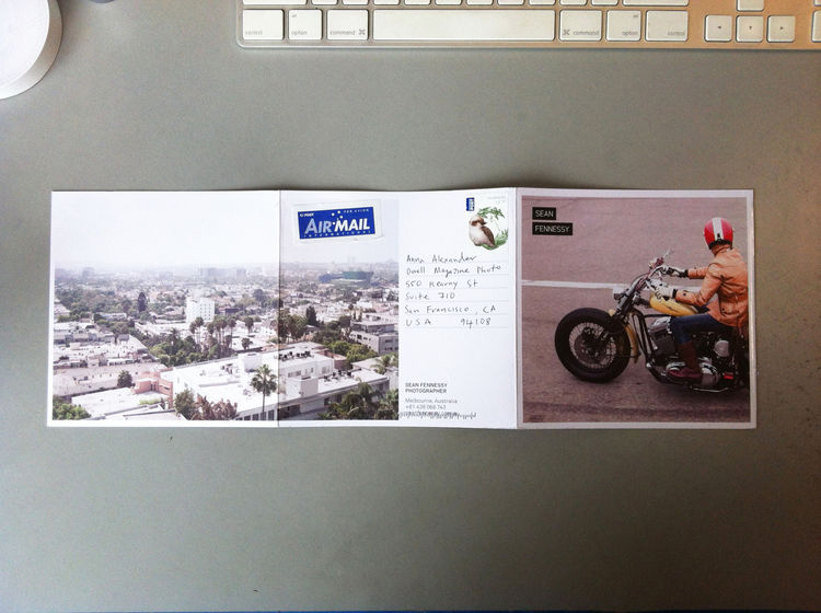 Back spread of the photography promo mailer from Sean Fennessy from Melbourne, Australia in Promo Daily.