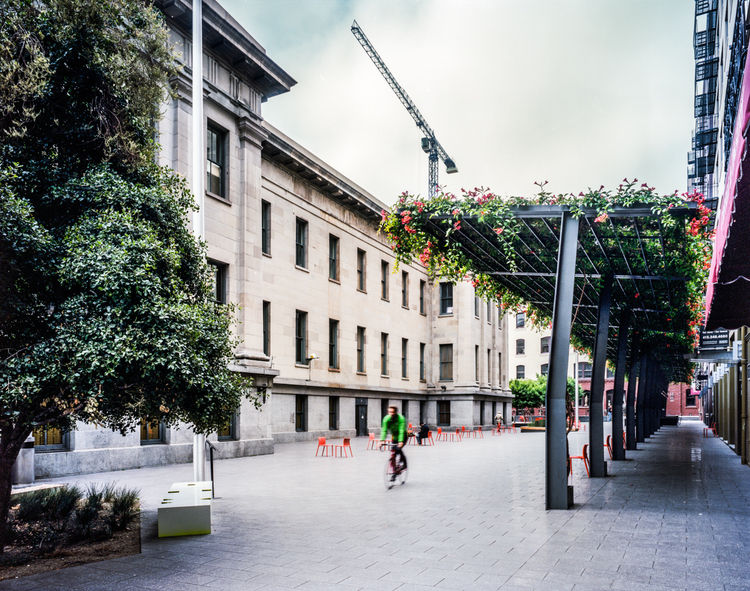 San Francisco's US Mint Plaza is an example of urban renewal in historic preservation