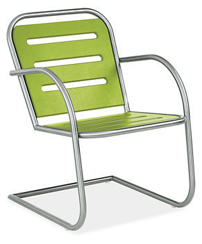 Stainless steel and recycled plastic patio chair
