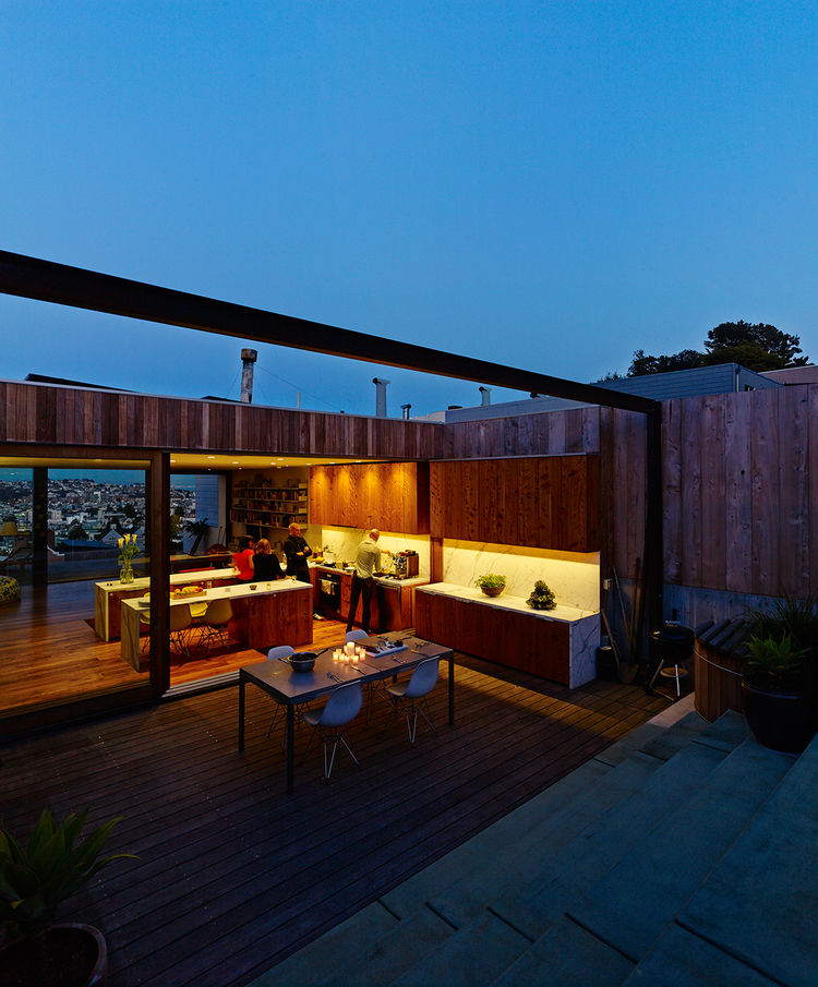 San Francisco house, Craig Steely, back patio