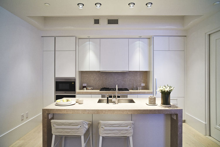 Huys kitchen by Piet Boon with Miele appliances, white marble, Dornbracht faucet, Bulthaup cabinets