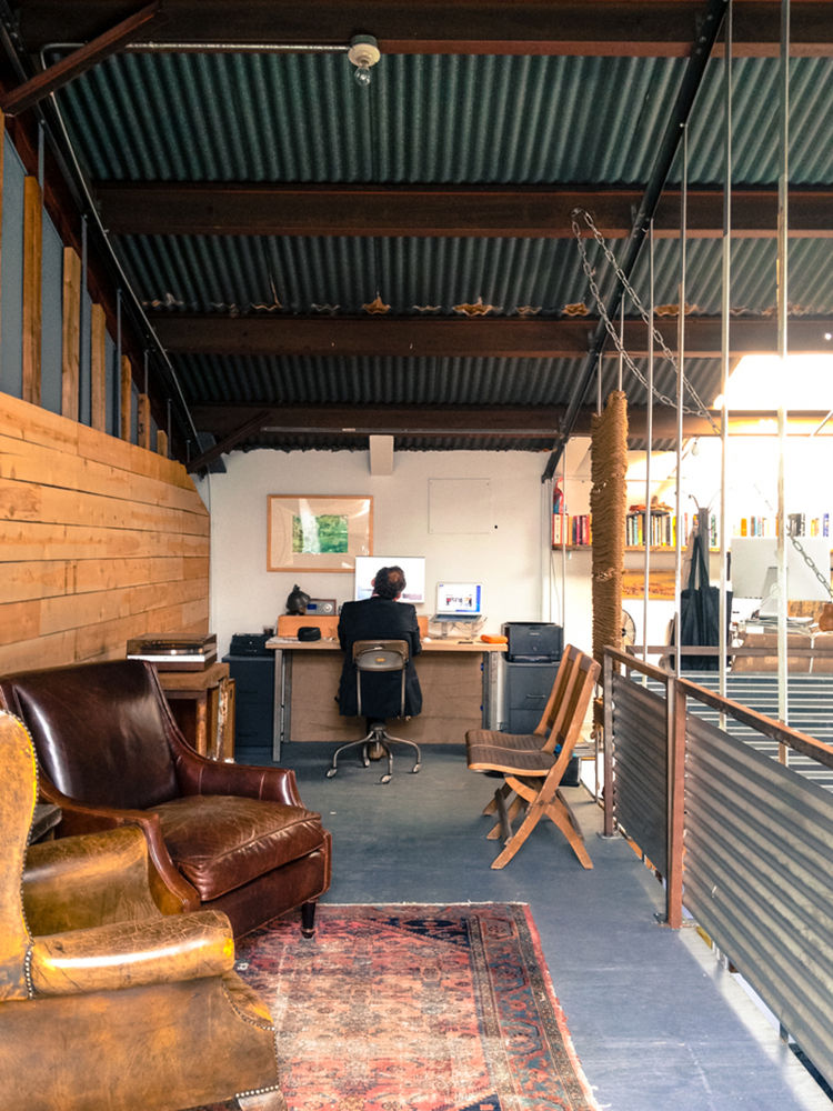 mezzanine-level workspace in Venice, California