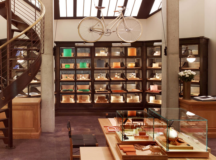 Antique case goods from Wyeth for Shinola store in Tribeca