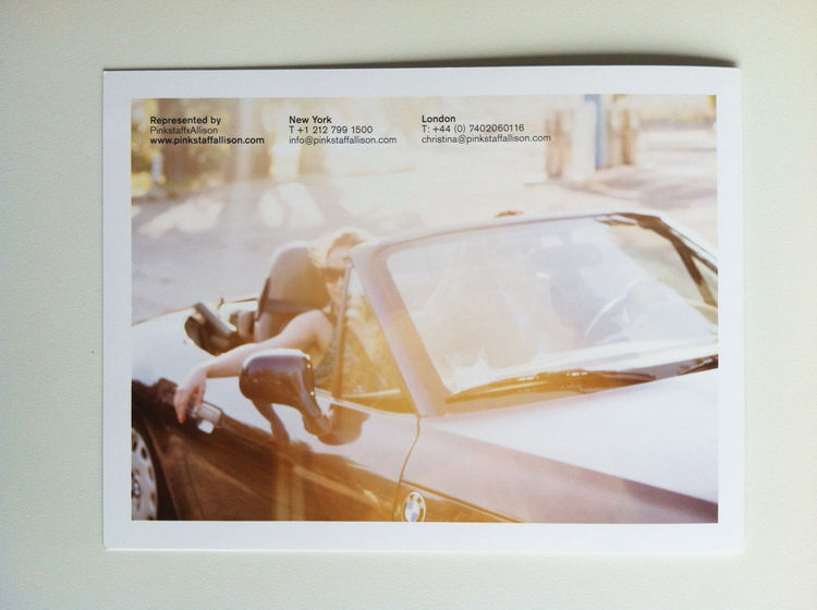 back of the photography promo of Francesco Bittichesu. lifestyle documentary girl in car summer
