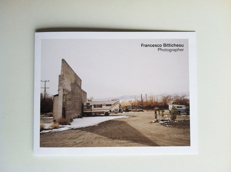 Front of the photography promo of Francesco Bittichesu.  RV, landscape