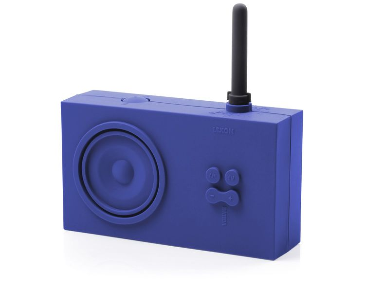 Silcone covered Tykho radio in blue by Lexon
