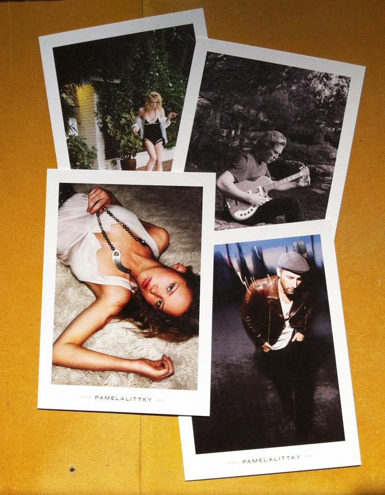 Grid of four celebrity portraits from Littky including Courtney Love, Jeff Bridges, Jennifer Lawrence and Mat Kearney.
