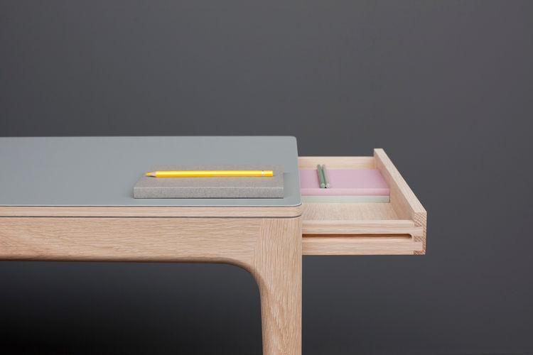 modern wood desk by Derek Welsh
