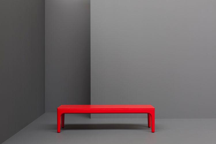 modern red table by Derek Welsh