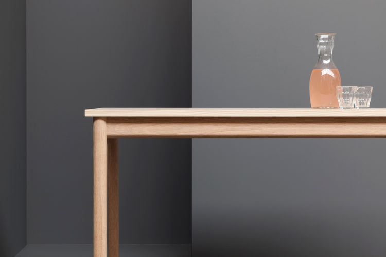 modern wood table by derek welsh