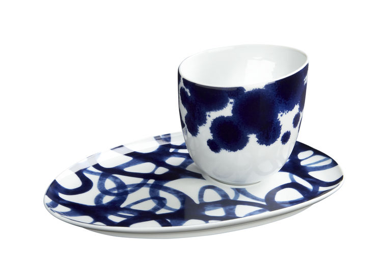 Paola Navone collection Crate & Barrel ceramic tabletop espresso cup saucer