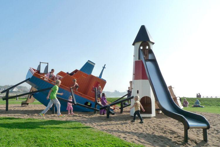 Cargoship playground in Höganäs, Sweden