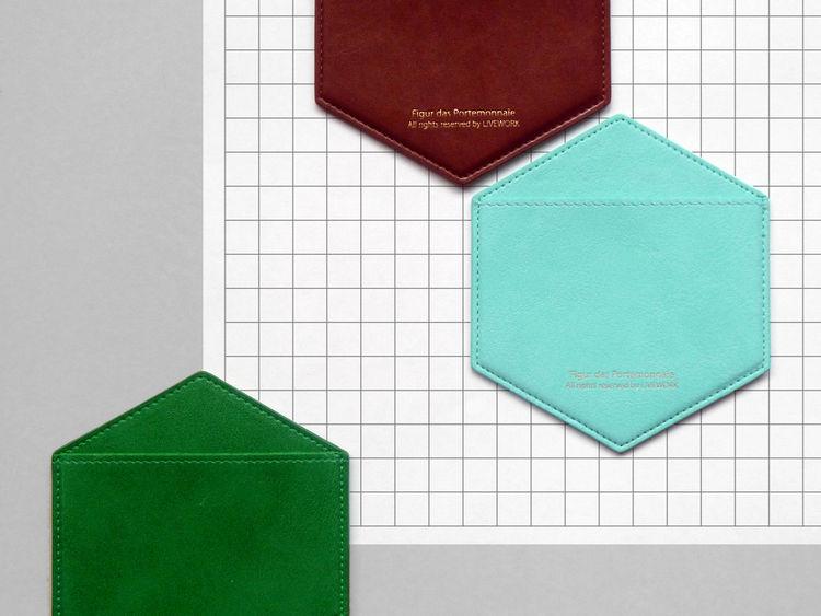 Hexagon credit card pocket holder Present & Correct