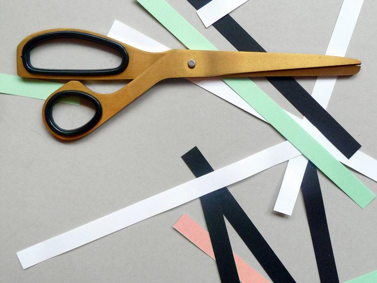 Brass scissors from Present & Correct desktop school accessories for office