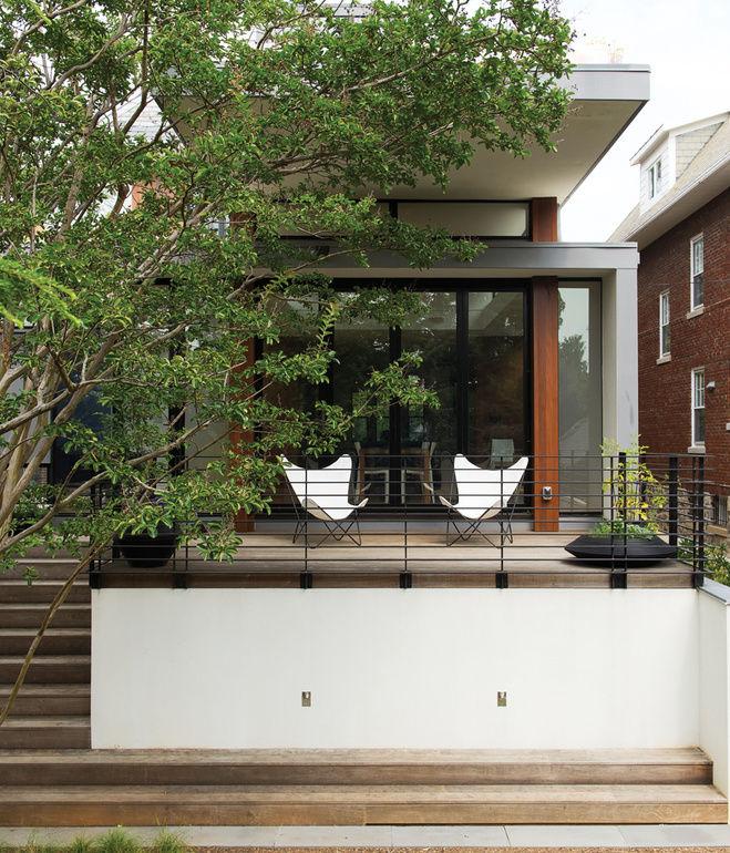 pink lerner residence outside deck exterior