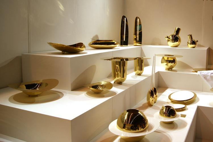 Alex Meitlis brass tabletop accessories Hazorfim London Design Festival 2013 trends
