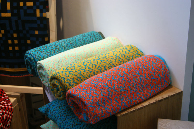 Cristian Zuzunaga designjunction blankets Memphis pattern London Design Festival 2013 trends