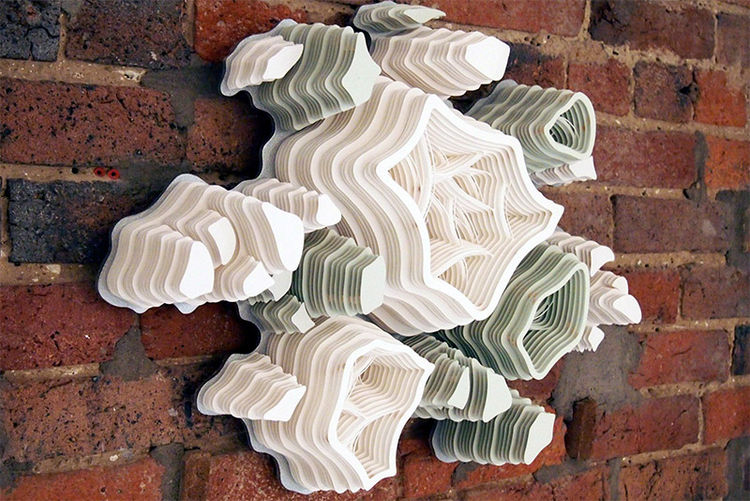 charles clary hand cut paper cluster