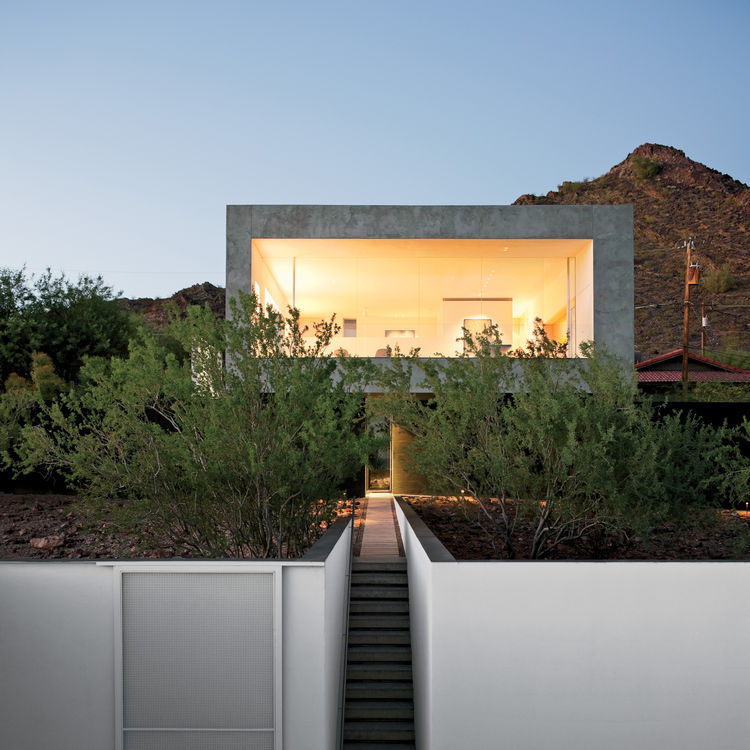 geometric desert exterior