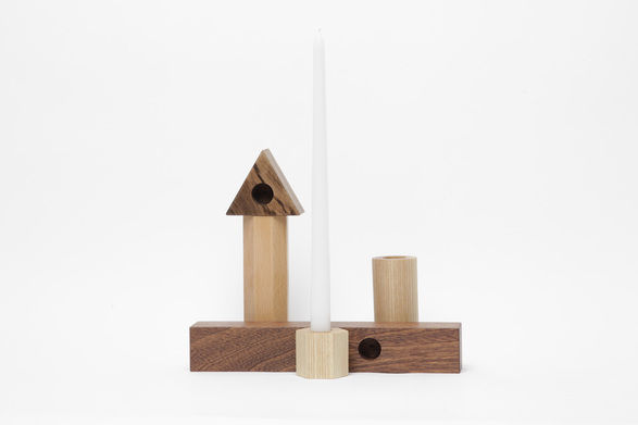 fort makers geometric candle sticks