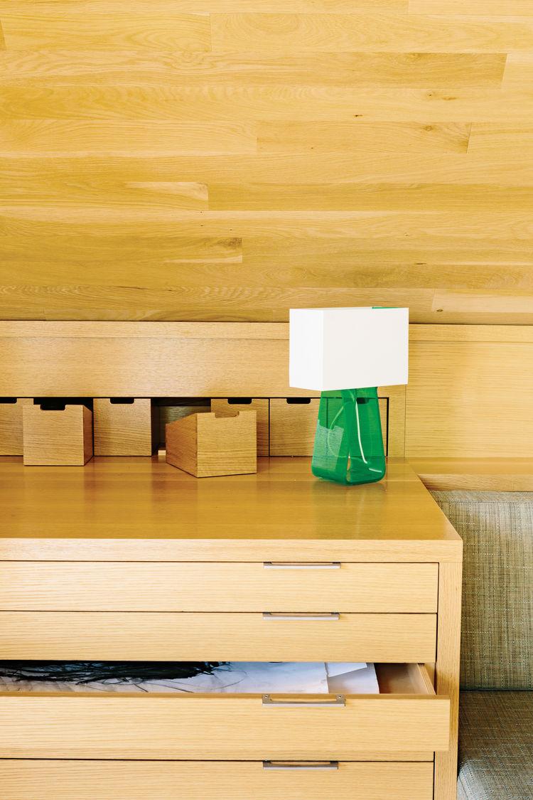 woodwork portland renovation interior green lamp