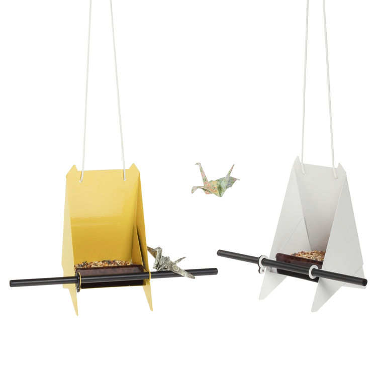 Fold bird feeder by Joe Paine for Fab x South Africa powder coated steel