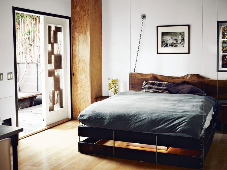 hollywood cabin loft bedroom