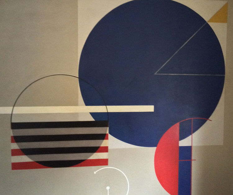 touring the weimar bauhaus campus mural by students