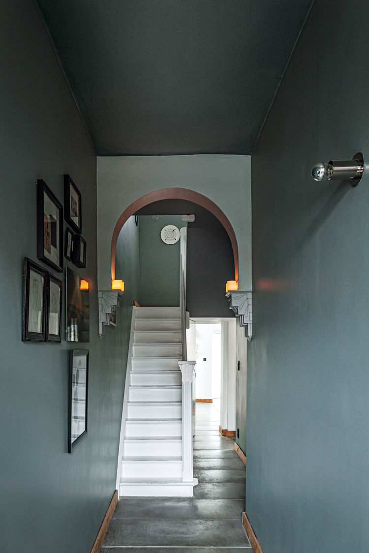 belgian renovation interior hallway
