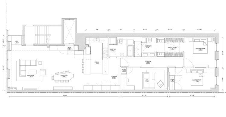 floor plan for soho renovation