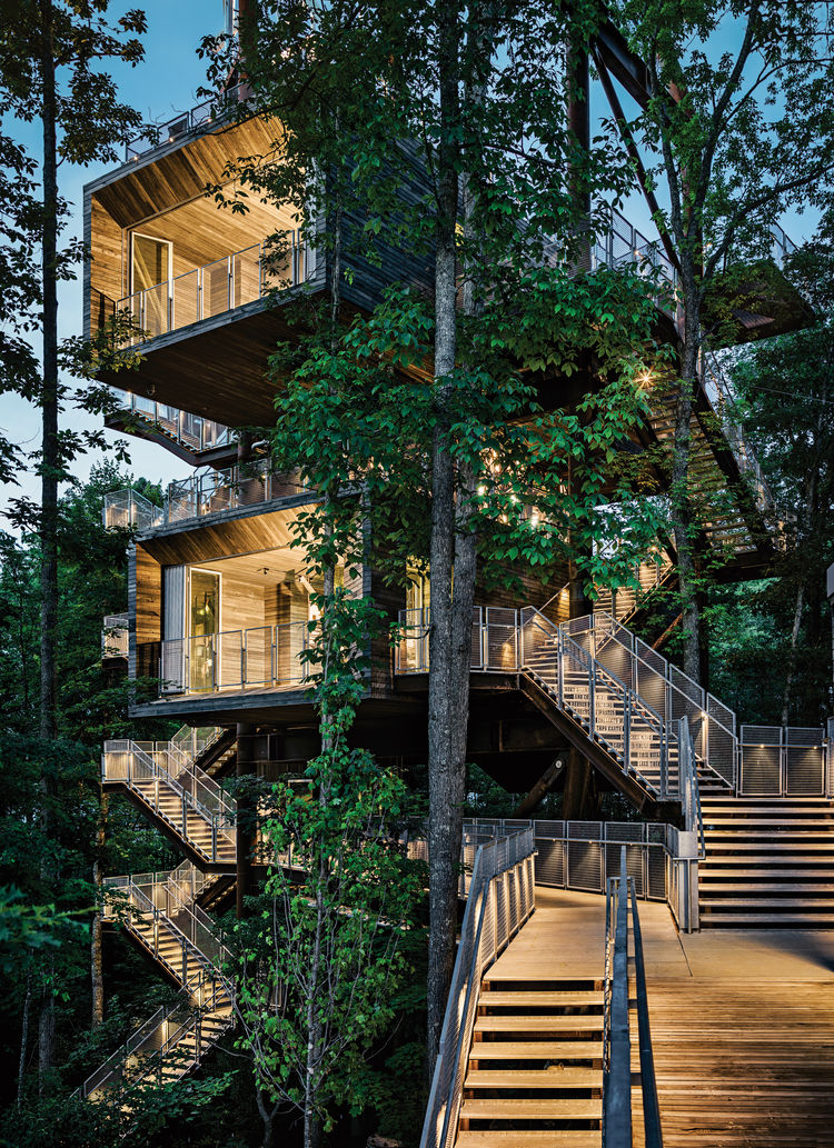 sustainable tree house in west virginia