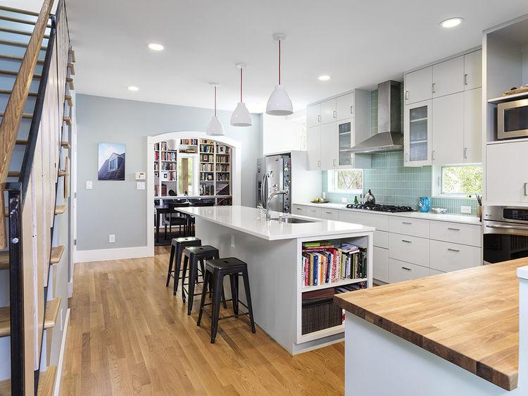 Kitchen Austin bungalow home remodel renovation Merzbau Design Collective