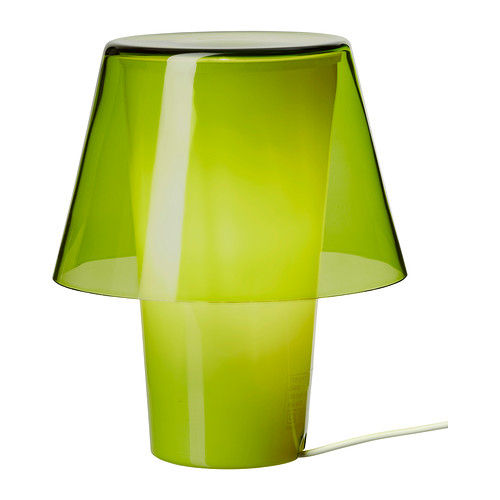 Green glass table lamp Ikea Gavik student gift guide 2013