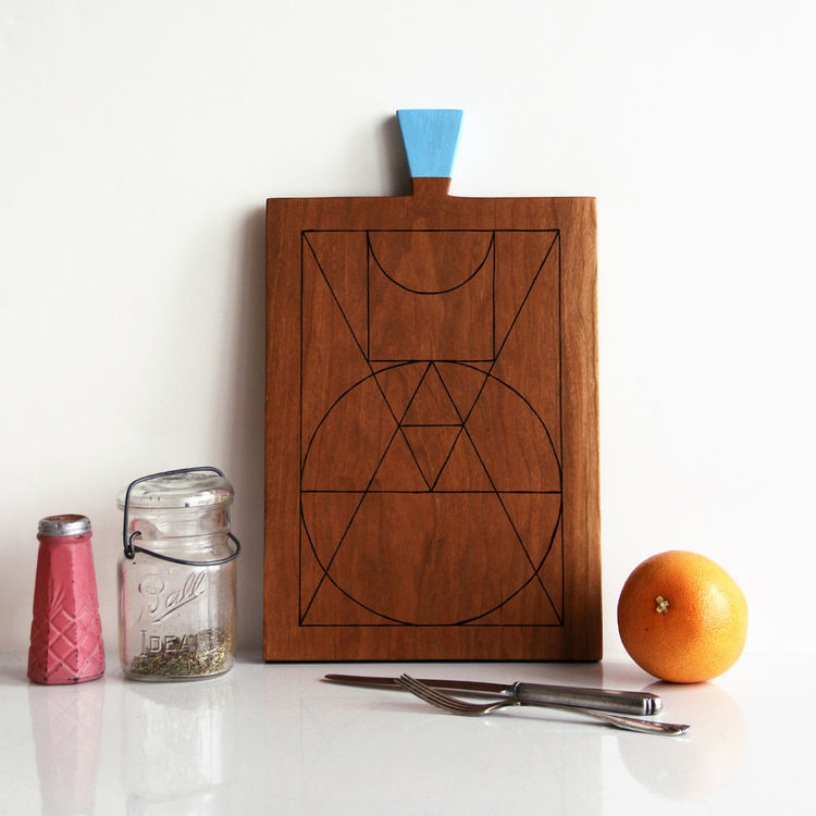 GEOMETRIE III - CHERRY SERVING BOARD