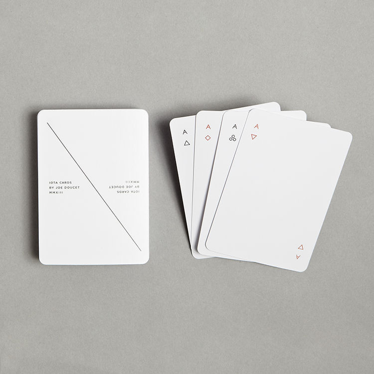 Joe Doucet minimalist playing cards Module R gift guide games