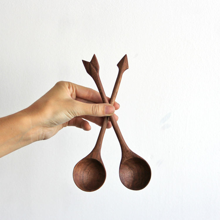 ARROW SPOONS - SALAD SET