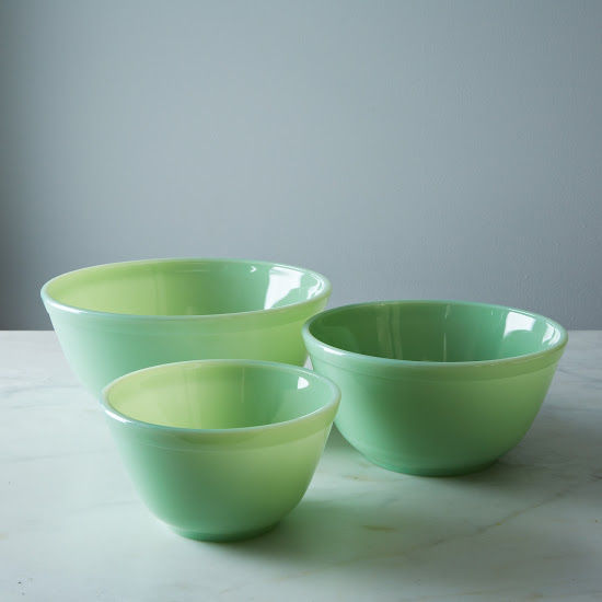 MOSSER GLASS 3-PIECE MIXING BOWL