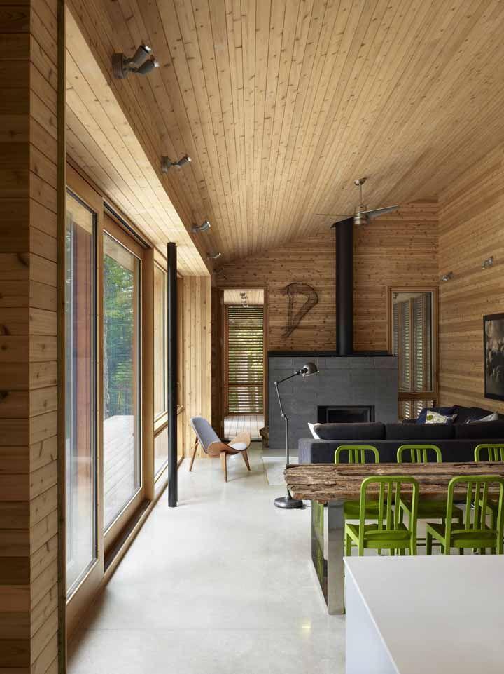 Cedar cladding interior exterior superkul cabin Canada