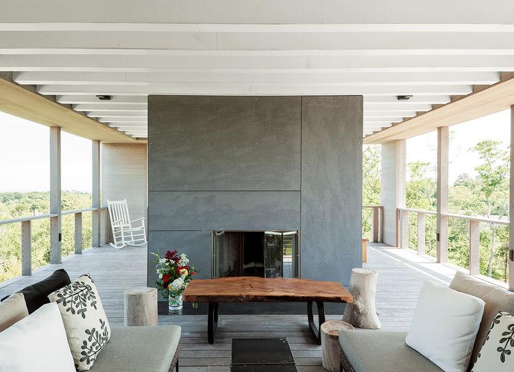 Fishers Island prefab indoor outdoor patio