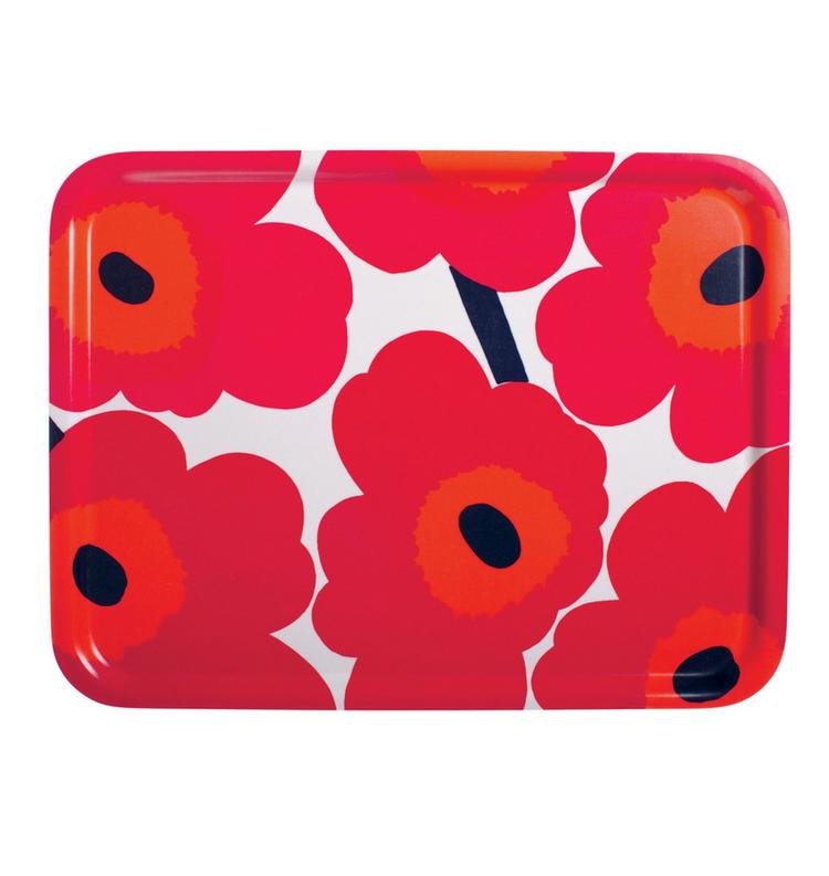 Marimekko Unikko breakfast tray red