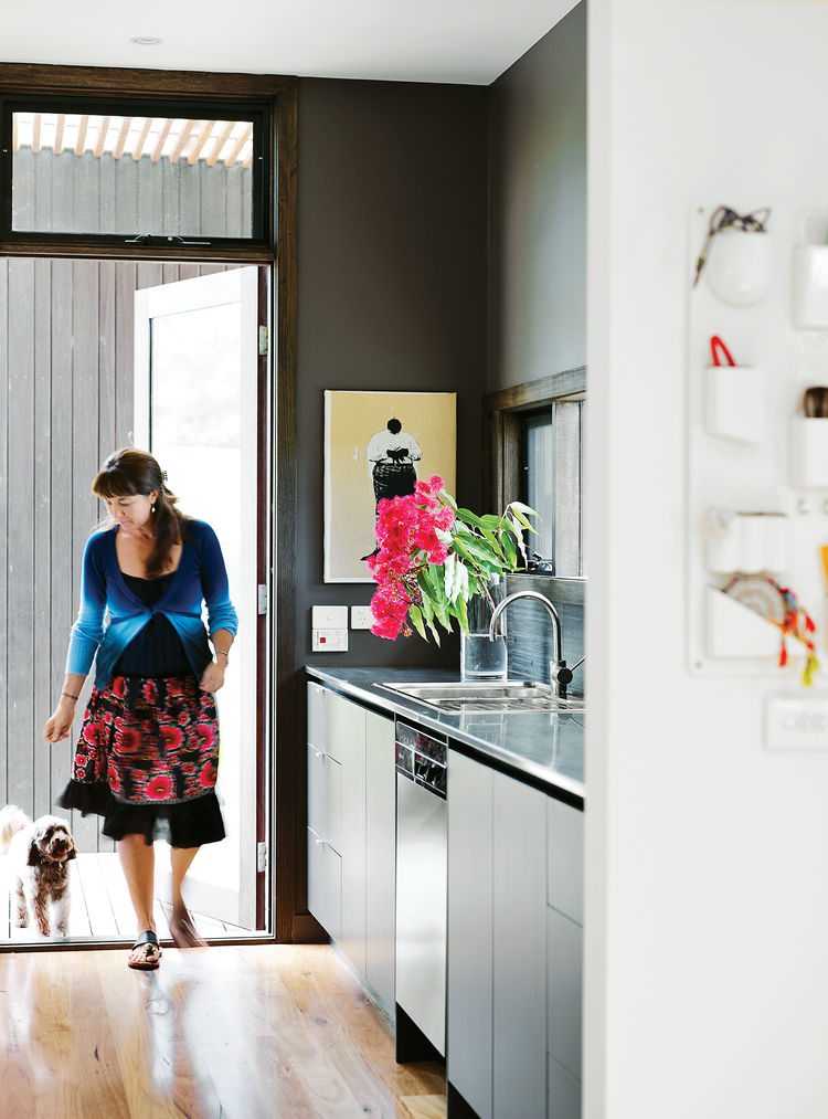 modular beachside getaway Australia interior kitchen